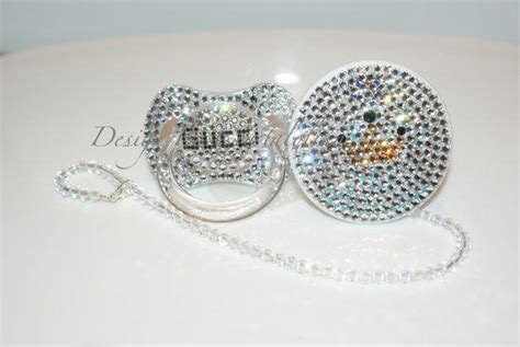 One Gig Of Glitter From Philips And Swarovski by Baby Bling Pacifier Gucci Made With From Crystalolika On Etsy