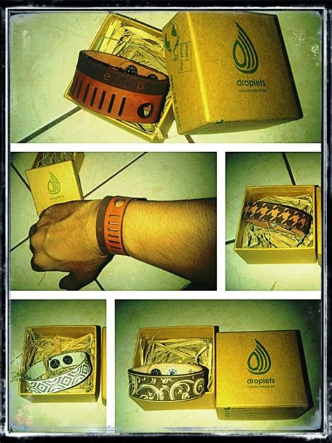Gelang Kulit Nama Di Bandung the moron republica moron x droplets leather bracelet