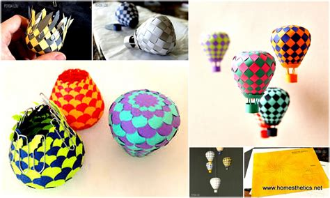 How To Make Paper Air Balloon - extraordinary creative diy paper project colorful