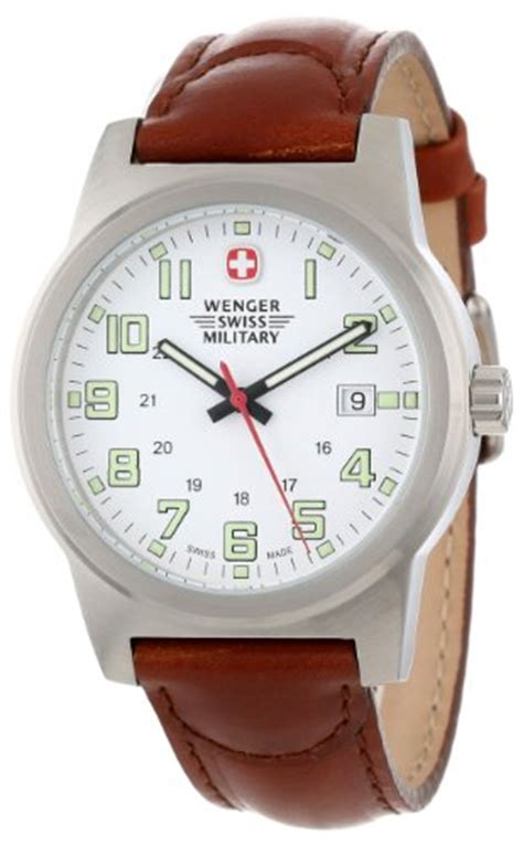 Swiss Army Sa2013m Black Leather swiss wenger swiss s 72900 classic field white brown leather