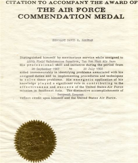 air force commendation medal template images templates
