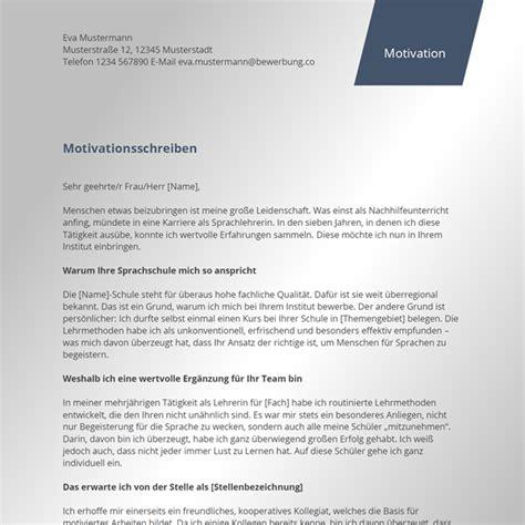 Motivationsschreiben Für Bewerbung Vorlage motivationsschreiben vorlage bewerbung co