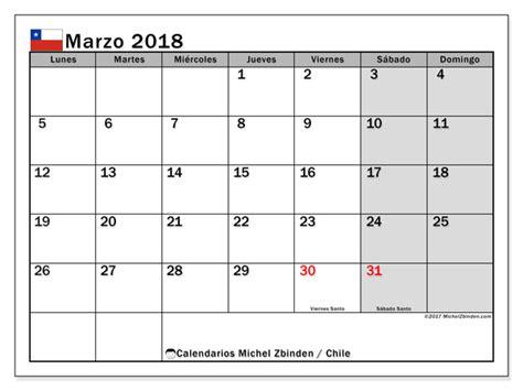 Feriados 2018 Chile Calendario Para Imprimir Marzo 2018 D 237 As Feriados En