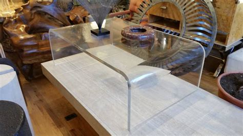 waterfall lucite coffee table lucite waterfall coffee table at 1stdibs