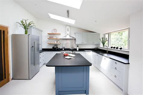 gray blue kitchen blue grey kitchen bespoke handmade wood kitchens by