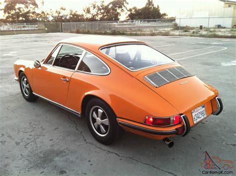 porsche signal 1970 porsche 911e coupe signal orange