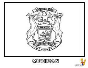 michigan state colors gallant state flags coloring idaho montana free