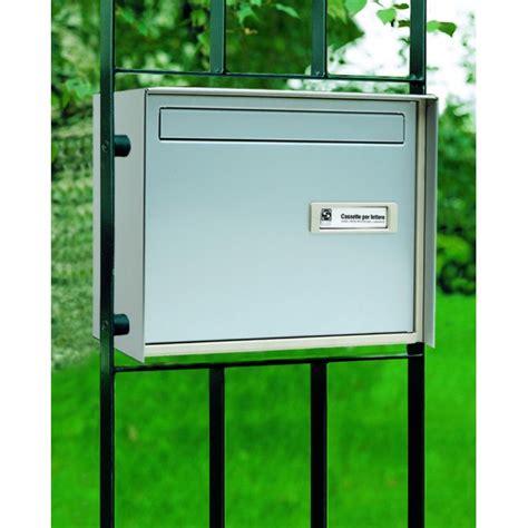 cassette postali americane cassetta passante silmec per recinzione alluminio silver