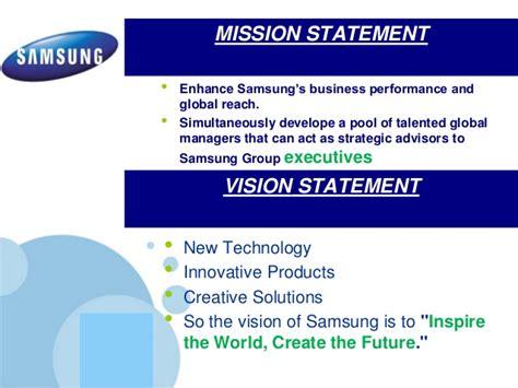 mission statement of samsung company samsung