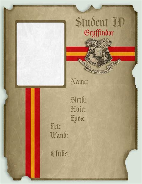 free harry potter place card template hogwarts id and diploma templates harry potter amino