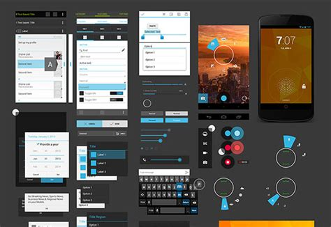 free website templates for android android 4 ui design kit psd freebiesbug