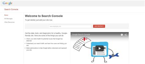 webmaster console webmaster tools renamed to search console