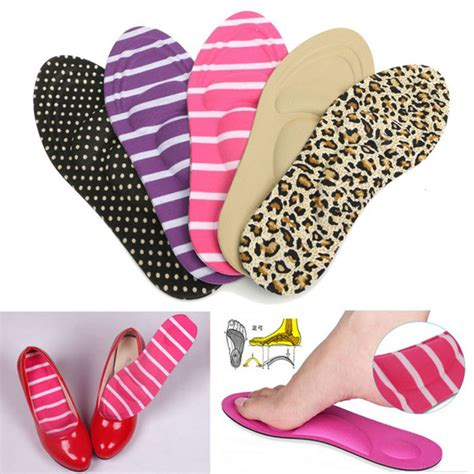 diy shoe insoles durable high heels sponge 3d 4d shoe insoles cushions pads