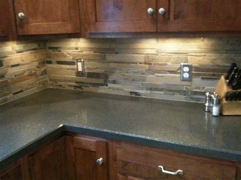 slate backsplash kitchen remodel pinterest