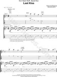 last kiss tutorial guitar taylor swift quot last kiss quot guitar tab in bb major download