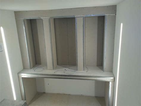 scrivania in cartongesso cartongesso imbiancatura edile cartongesso
