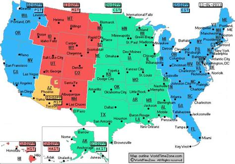timezone map usa map time zone usa holidaymapq