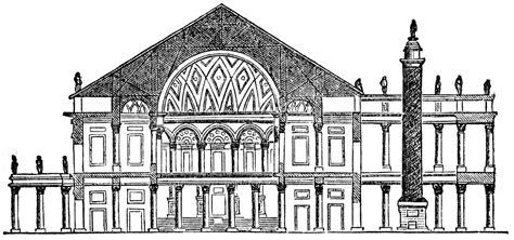 basilica section trajan s basilica clipart etc