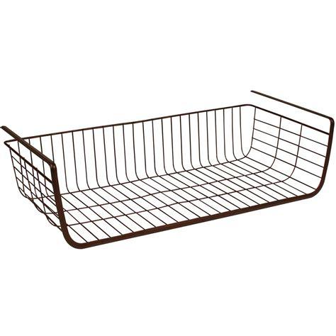 under storage shelf under shelf storage basket in under shelf storage racks