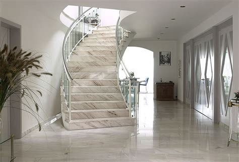 Marble Stairs Design Ideas Palissandro Marble Stairway Modern Staircase Los Angeles By Aa Solid