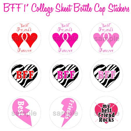 happy valentines day bff bff valentines day hearts bottle cap 1 inch best friends