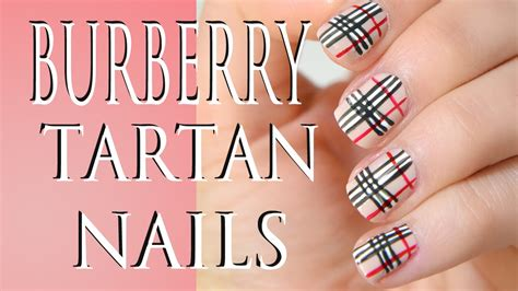 tutorial nail art burberry burberry nail art tutorial youtube