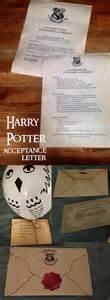 Harry Potter Acceptance Letter Diy Harry Potter Hogwarts Acceptance Letter Paper Trail Design