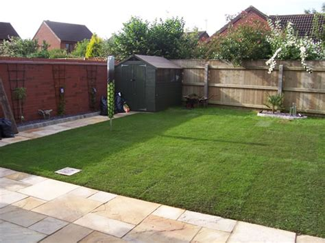 patio slabs  turf laid  parker builders lincolnshire
