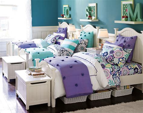 cute girl bedrooms cute for twins or triplets teenage girl bedroom ideas shared bedroom pbteen cute shelves