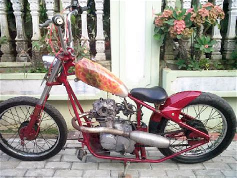 motor coper modifikasi modif honda cb 100 chopper sold for marriage fee