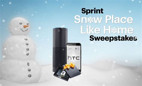 Home Sweeper Sweepstakes - sprint snow place like home sweepstakes sweepstakesbible