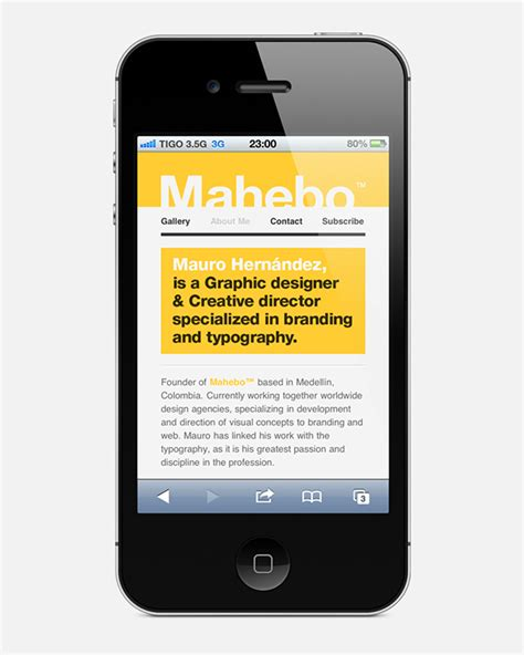 mobile website gallery mahebo mobile site on wacom gallery