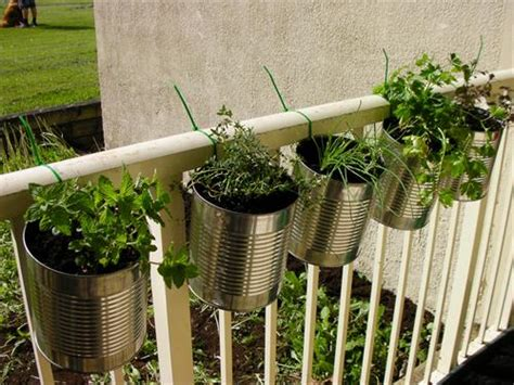 diy hanging herb garden diy balcony planter ideas diy craft projects