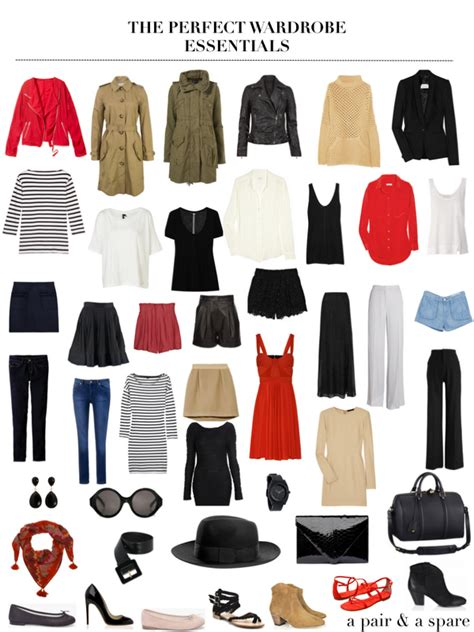 Ideal Wardrobe List by Wardrobe Rehab The Wardrobe Essentials A Pair