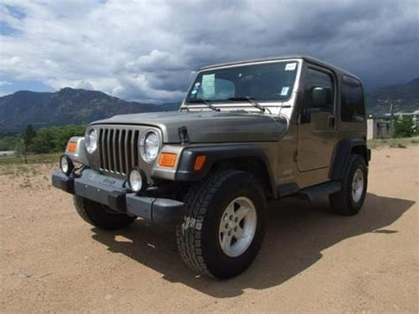 where to buy car manuals 2004 jeep wrangler transmission control buy used 2004 jeep wrangler 2dr 4 wheel drive 5 speed manual 4 liter hard top in colorado