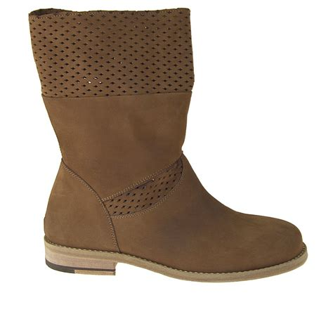 small boots small or large ankle high boot in nabuk leather ghigocalzature