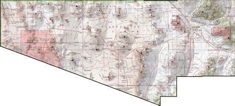 pima maps arizona peaks 1 000 of prominence and higher www