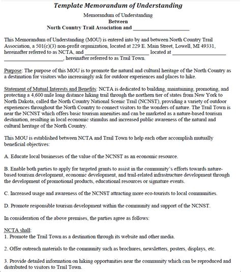 Template For A Memorandum Of Understanding by 7 Memorandum Of Understanding Templates Free Word Pdf