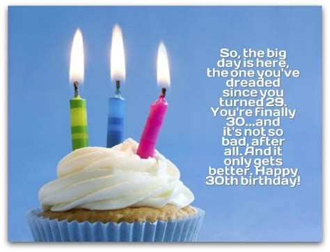 30 Years Birthday Quotes 30th Birthday Wishes Page 2