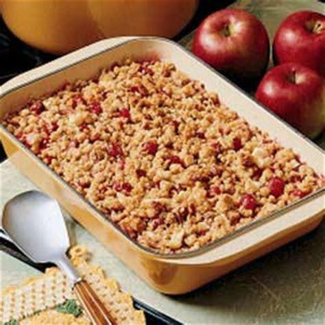 cranberry apple crisp recipe taste of home