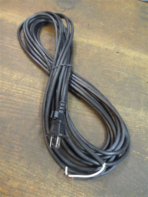 how to replace a l cord vintage replacement vacuum cord 25 ft black cord ja