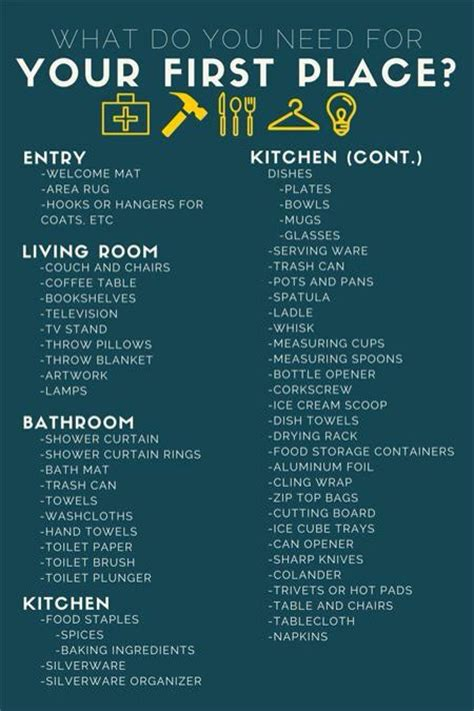 first home essentials checklist 25 best ideas about first home checklist on pinterest