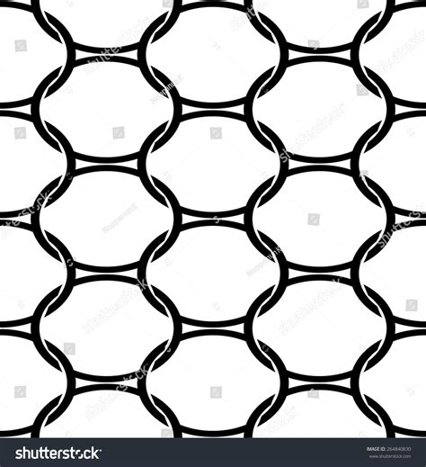seamless oval pattern black white geometric seamless pattern oval stock vector