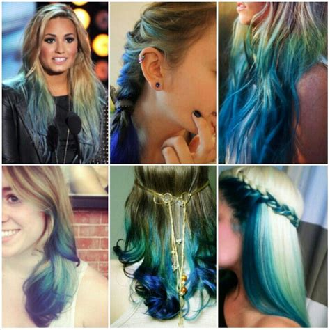 whats a good style for a dirty blonde twelve year old who is not skinny but not fat dirty blonde to teal to rockabilly blue ombre hairy