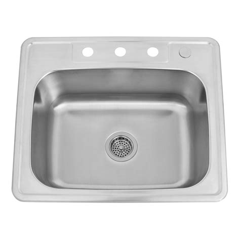 stainless steel drop in kitchen sinks 25 quot infinite rectangular stainless steel drop in sink