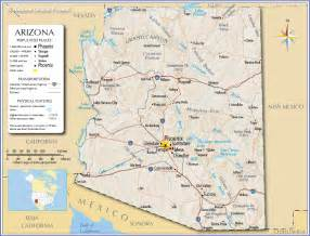 show me a map of arizona reference map of arizona usa nations project