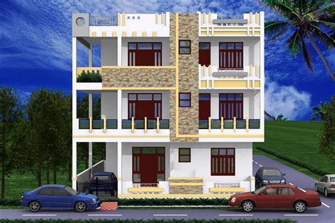 3d View Of Exterior Of House Gharexpert Design A House On Your