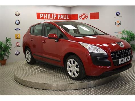 red peugeot for sale used peugeot 3008 2010 red colour diesel 1 6 hdi active 5