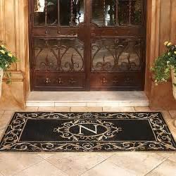 Personalized Front Door Mat St Clair Monogrammed Door Mat Frontgate Traditional Doormats By Frontgate