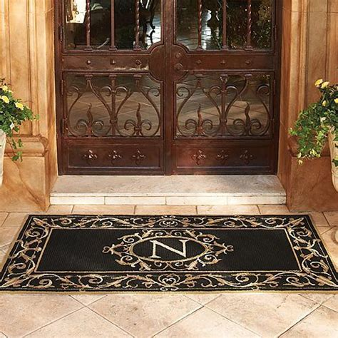 St Clair Monogrammed Door Mat Frontgate Traditional Monogram Front Door Mat